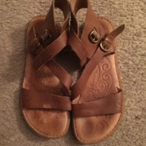 Born brown leather sandals
